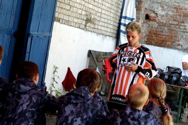 Инструктаж перед игрой в детский Пейнтбол в пейнтбольном клубе Экстремал
