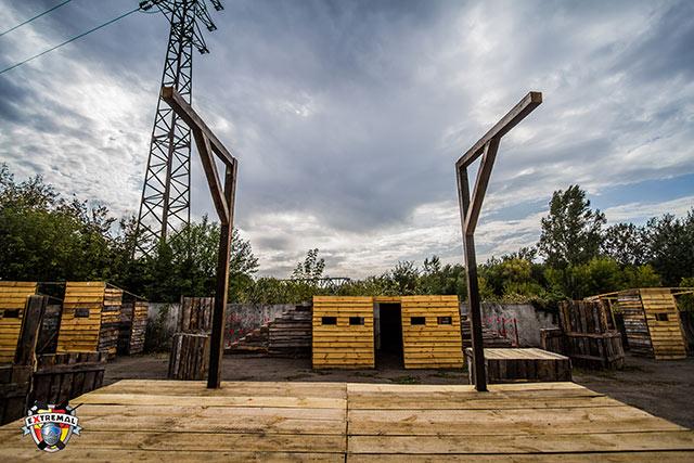 Площадки для игры в пейнтбол в Харькове
