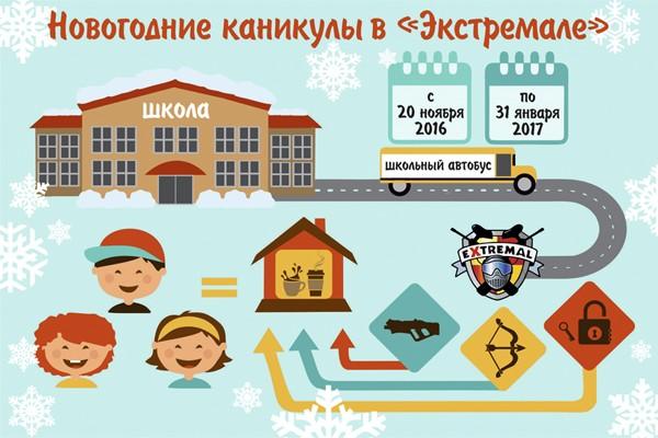 Новогодние каникулы Харьков. Лазертаг, квест комната, арчеритаг.