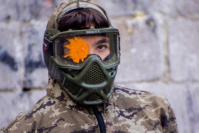 Детский пейнтбол, маска для пейнтбола, фидер для маркера, пейнтбол Харьков, активный отдых в Харькове
