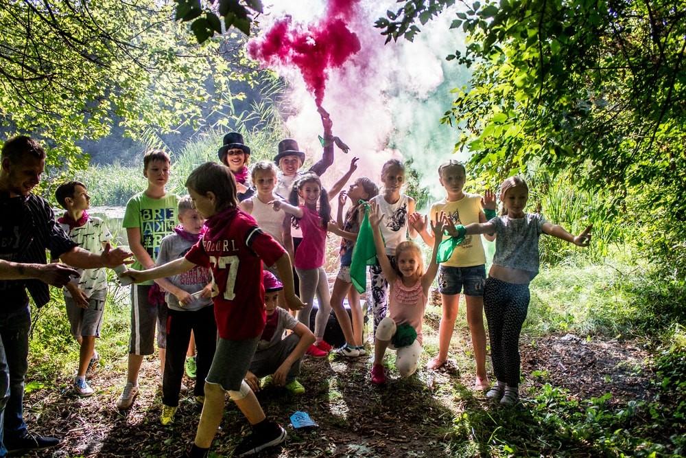 Фаер шоу, дым, фокусы на детский праздник в Харькове