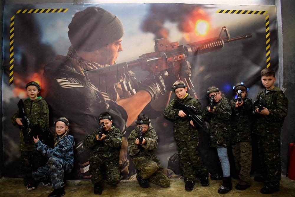 Фотозона в лазертаг арене в Харькове