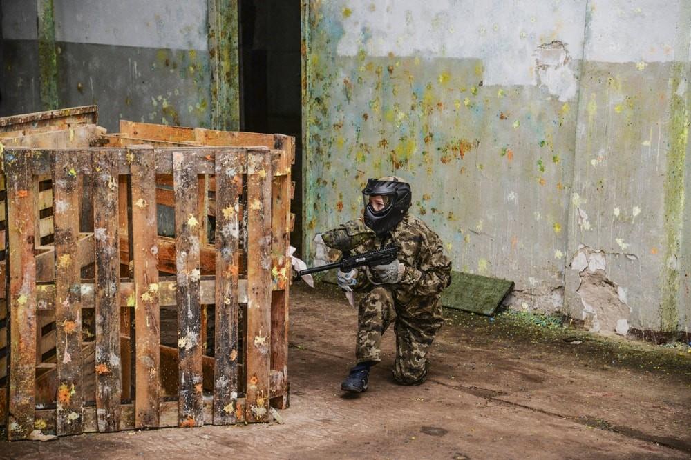 """Детский пейнтбол на площадке """"Реактор"""" в Харькове"""