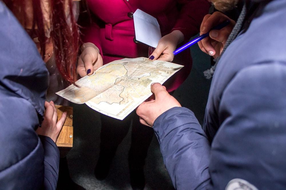 Квест по городу с картой