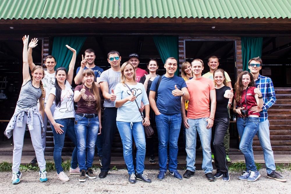 Зона отдыха в пейнтбольном клубе Экстремал Харьков