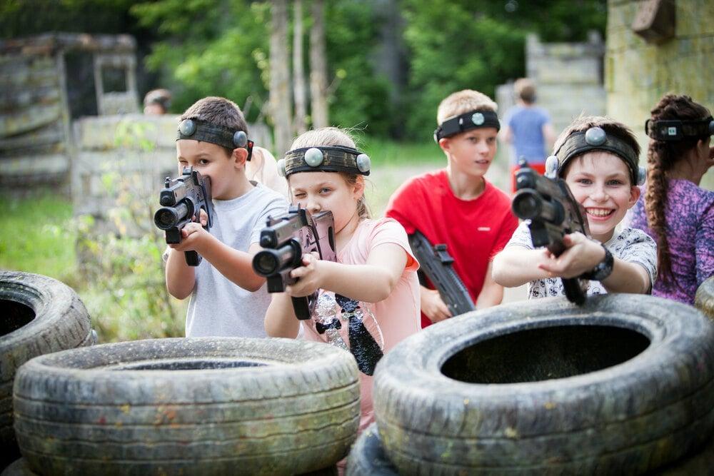 Лазертаг для детей акция в Харькове