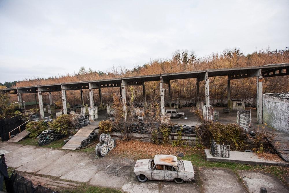 Пейнтбольная площадка Автопром в ПК Экстремал в Харькове
