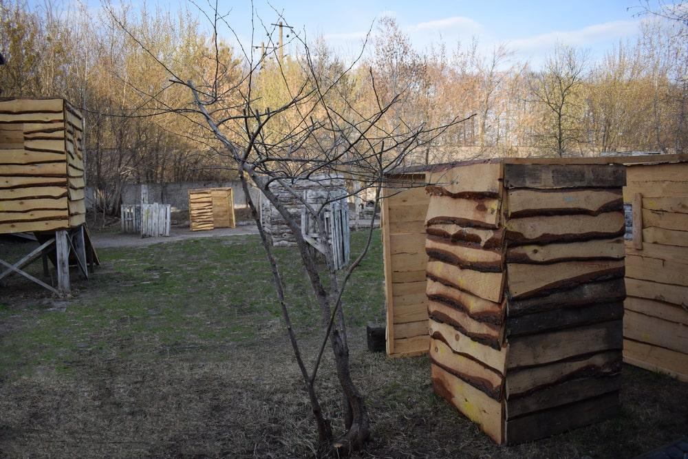 Летняя площадка для игры в пейнтбол в Харькове под открытым небом
