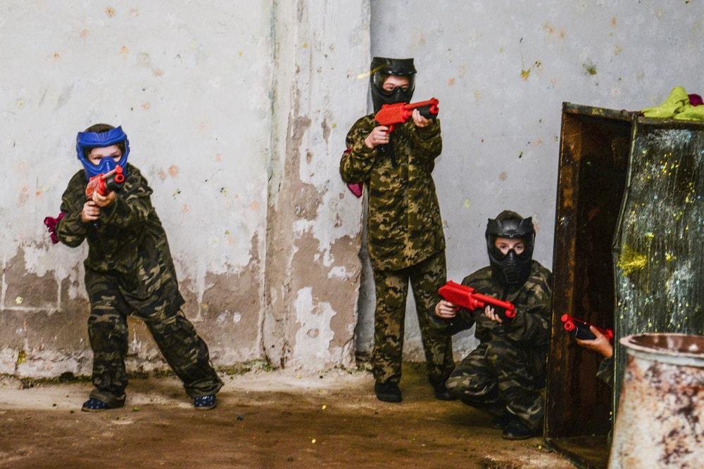 Пейнтбол в помещении кода дождь в Харькове
