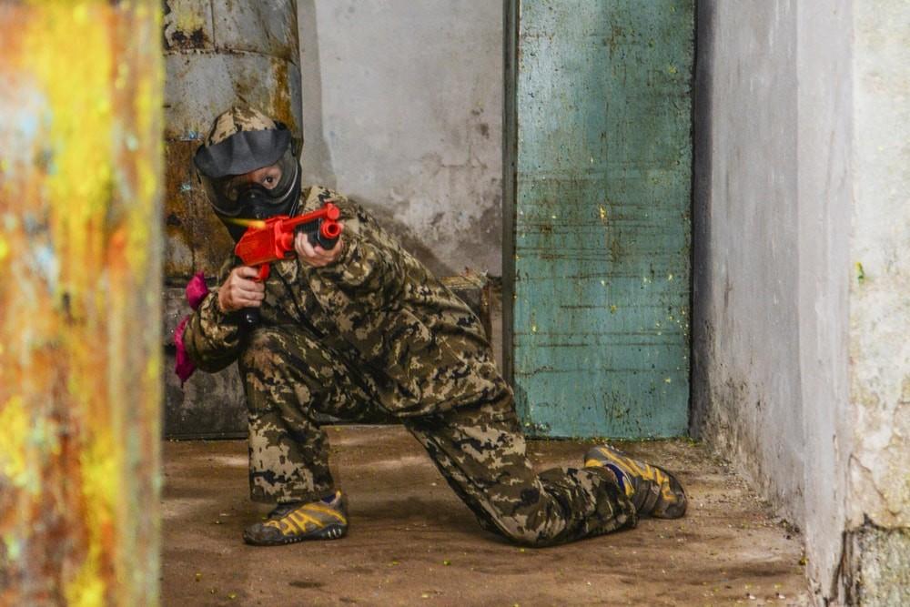 Площадка в помещение для пейнтбола в Харькове в ПК Extremal