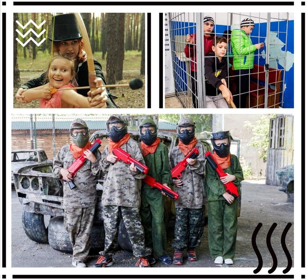 Детский пейнтбол и квест комнаты на день рождение в Харькове